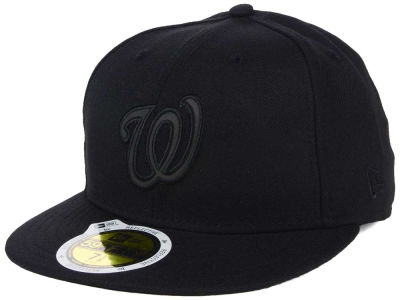 Washington Nationals New Era MLB Black on Black Iridescent 59FIFTY Cap
