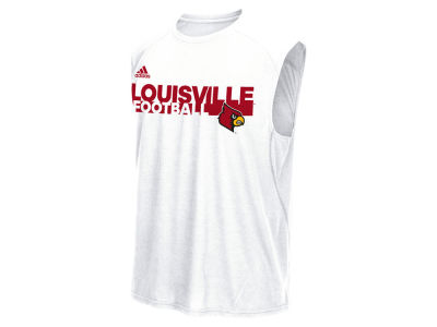 Louisville Cardinals adidas NCAA Men's Sideline Grind Football Sleeveless Tank ES