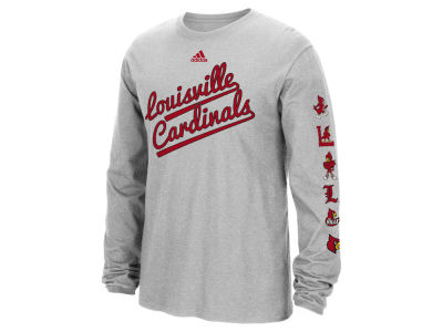 Louisville Cardinals adidas NCAA Men's Vault Evolution Long Sleeve T-Shirt ES