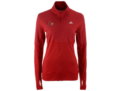 Louisville Cardinals adidas NCAA Women's Team Logo Heat Transfer Light Weight Full-Zip Jacket