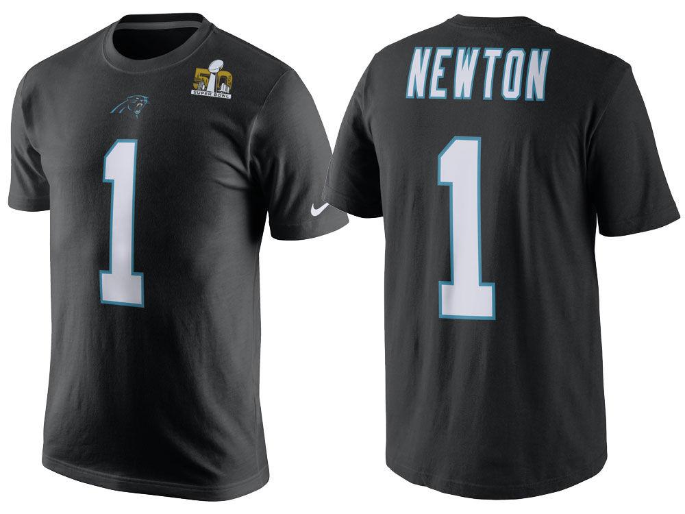 4dbc5993 Carolina Panthers Cam Newton Nike NFL Men's Super Bowl 50 Replica Player  T-Shirt 16