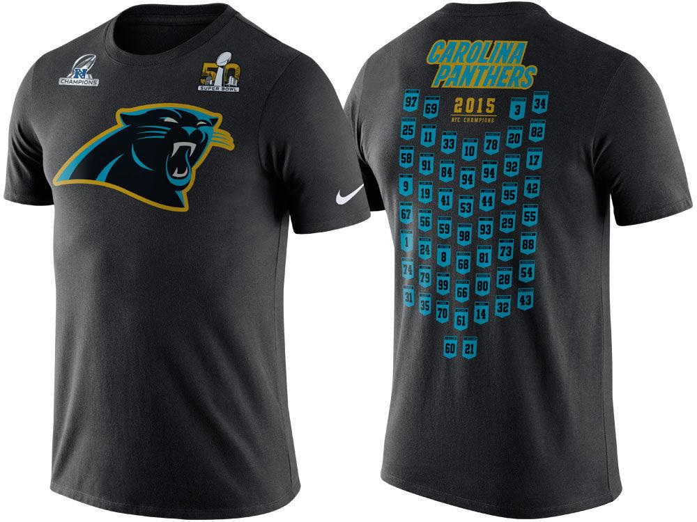 99606abbe Carolina Panthers Nike NFL Men s Super Bowl 50 Roster T-shirt