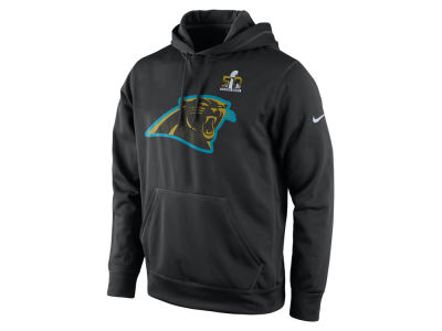Carolina Panthers Nike NFL Super Bowl 50 Team Travel Hooded Sweatshirt