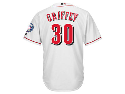 Cincinnati Reds Ken Griffey Jr. MLB Men's Hall Of Fame Patch CB Jersey