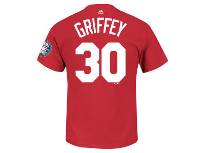 Cincinnati Reds Ken Griffey Jr. MLB Men's HOF Patch Player T-Shirt