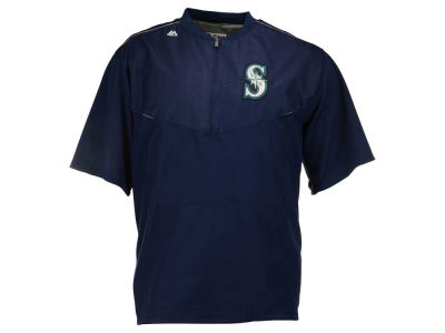 Seattle Mariners Majestic MLB Men's AC Training ES Short Sleeve Jacket