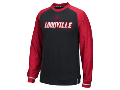 Louisville Cardinals adidas NCAA Men's Sideline Player Crew Long Sleeve T-Shirt
