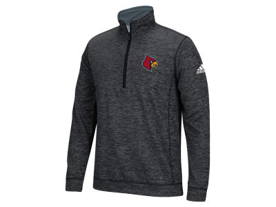 Louisville Cardinals adidas NCAA Men's Primary Screen Climawarm Team Issue 1/4 Zip Pullover