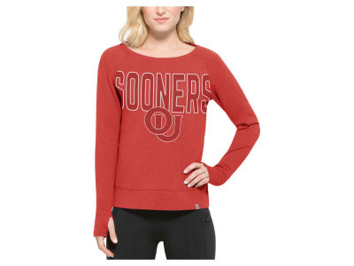 Oklahoma Sooners '47 NCAA Women's React Raglan Long Sleeved T-Shirt
