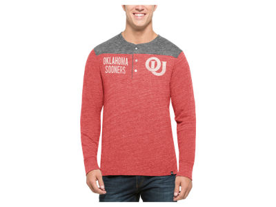 Oklahoma Sooners '47 NCAA Men's Neps Henley Shirts