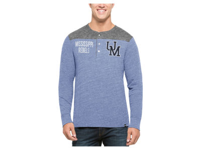 Ole Miss Rebels '47 NCAA Men's Neps Henley Shirts