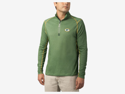 Green Bay Packers Tommy Bahama NFL Men's Double Eagle Half Zip Pullover