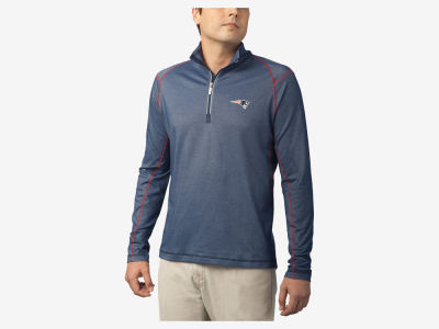 New England Patriots Tommy Bahama NFL Men's Double Eagle Half Zip Pullover