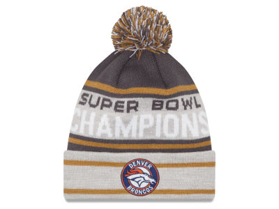 Denver Broncos New Era NFL Super Bowl 50 Champ Pom Knit