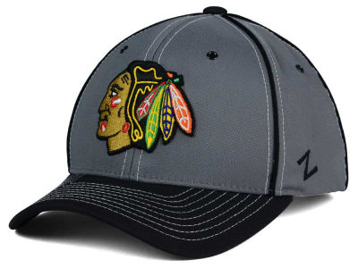 Chicago Blackhawks Zephyr NHL Youth Gray Wrath Adjustable Cap