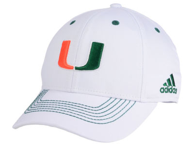 Miami Hurricanes adidas NCAA Coach Flex Cap