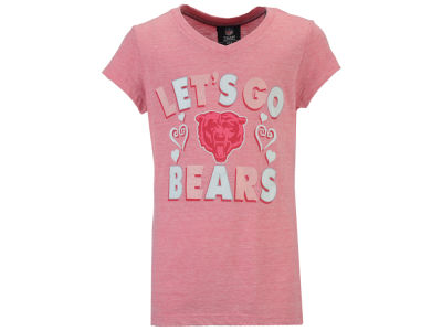 Chicago Bears 5th & Ocean NFL Youth Girls Pink #1 Fan T-Shirt