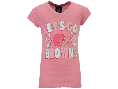 Cleveland Browns 5th & Ocean NFL Youth Girls Pink #1 Fan T-Shirt