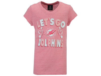 Miami Dolphins 5th & Ocean NFL Youth Girls Pink #1 Fan T-Shirt