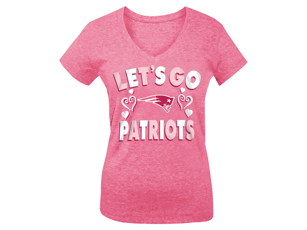 New England Patriots 5th   Ocean NFL Youth Girls Pink  1 Fan T-Shirt ... 5cb024ce0