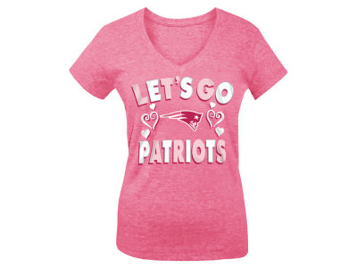 New England Patriots 5th & Ocean NFL Youth Girls Pink #1 Fan T-Shirt