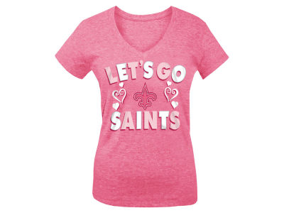 New Orleans Saints 5th & Ocean NFL Youth Girls Pink #1 Fan T-Shirt