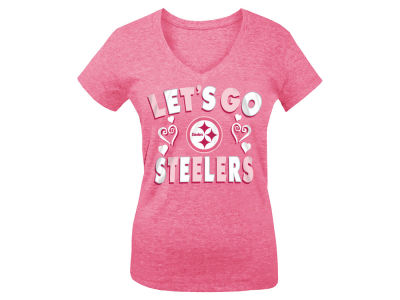 Pittsburgh Steelers 5th & Ocean NFL Youth Girls Pink #1 Fan T-Shirt