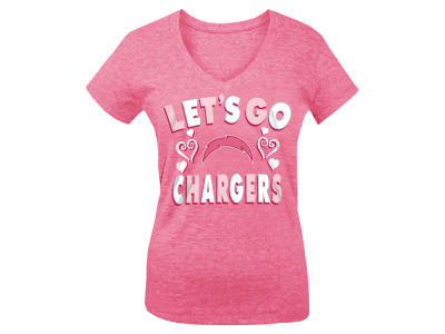 San Diego Chargers 5th & Ocean NFL Youth Girls Pink #1 Fan T-Shirt