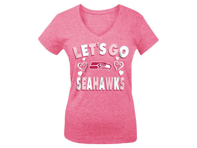 Seattle Seahawks 5th & Ocean NFL Youth Girls Pink #1 Fan T-Shirt