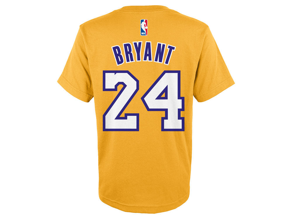 5df06dd68 Los Angeles Lakers Kobe Bryant adidas NBA Youth Name And Number T-Shirt