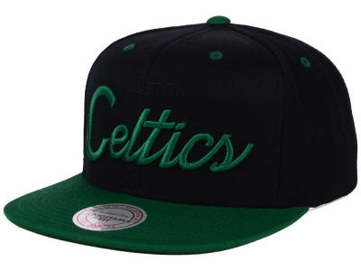 Boston Celtics Mitchell and Ness NBA Old Cool Script Snapback Cap