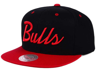 Chicago Bulls Mitchell and Ness NBA Old Cool Script Snapback Cap