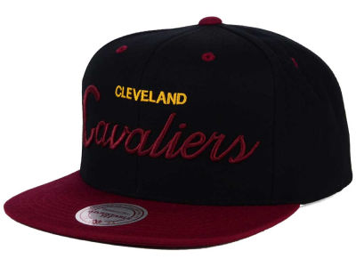 Cleveland Cavaliers Mitchell and Ness NBA Old Cool Script Snapback Cap