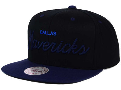 Dallas Mavericks Mitchell & Ness NBA Old Cool Script Snapback Cap