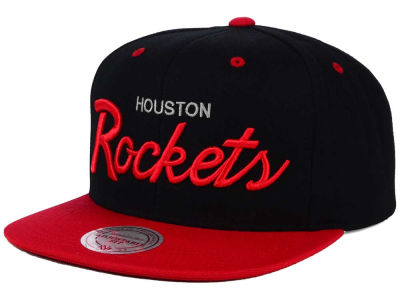 Houston Rockets Mitchell and Ness NBA Old Cool Script Snapback Cap