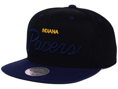 Indiana Pacers Mitchell and Ness NBA Old Cool Script Snapback Cap