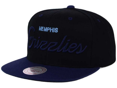 Memphis Grizzlies Mitchell & Ness NBA Old Cool Script Snapback Cap
