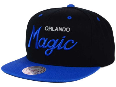 Orlando Magic Mitchell and Ness NBA Old Cool Script Snapback Cap