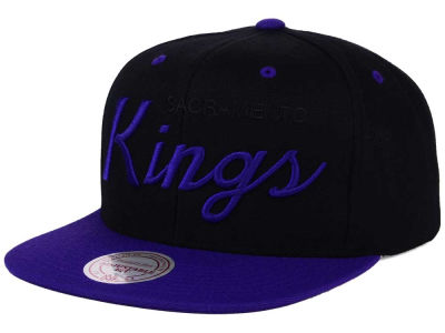 Sacramento Kings Mitchell and Ness NBA Old Cool Script Snapback Cap