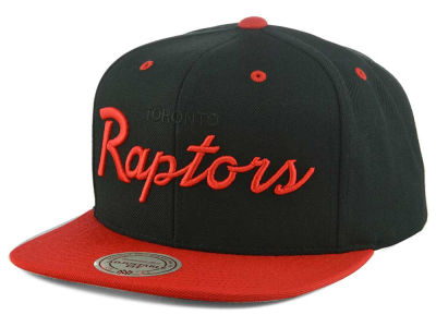 Toronto Raptors Mitchell and Ness NBA Old Cool Script Snapback Cap
