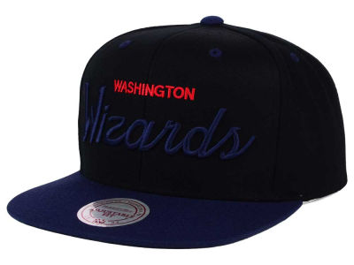 Washington Wizards Mitchell and Ness NBA Old Cool Script Snapback Cap