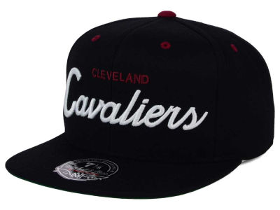 Cleveland Cavaliers Mitchell and Ness NBA Old Cool Script Fitted Cap