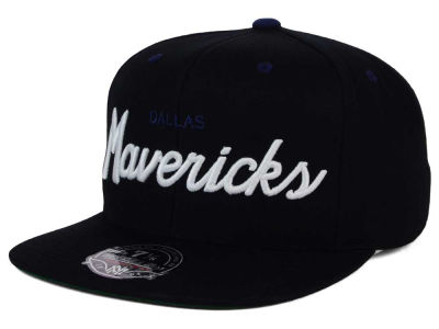 Dallas Mavericks Mitchell & Ness NBA Old Cool Script Fitted Cap