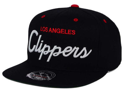 Los Angeles Clippers Mitchell and Ness NBA Old Cool Script Fitted Cap