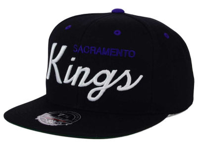 Sacramento Kings Mitchell and Ness NBA Old Cool Script Fitted Cap