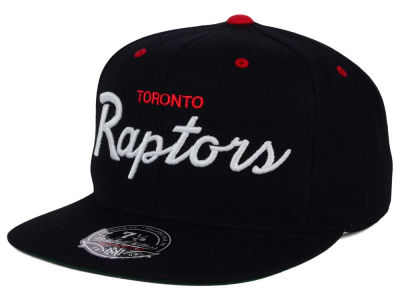Toronto Raptors Mitchell and Ness NBA Old Cool Script Fitted Cap