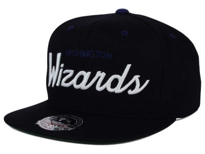 Washington Wizards Mitchell and Ness NBA Old Cool Script Fitted Cap