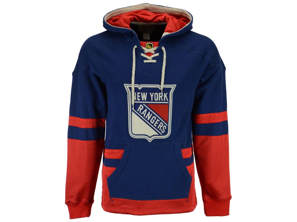 69ab8dbe5 New York Rangers Reebok NHL Men s CCM Pullover Hoodie