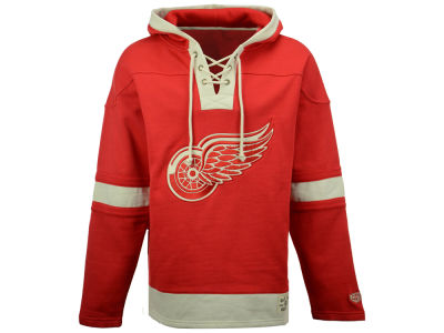 Detroit Red Wings Old Time Hockey NHL Men's Lacer Hoodie