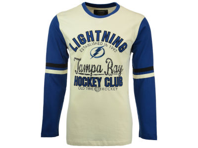 Tampa Bay Lightning Old Time Hockey NHL Men's Chisel Long Sleeve T-Shirt